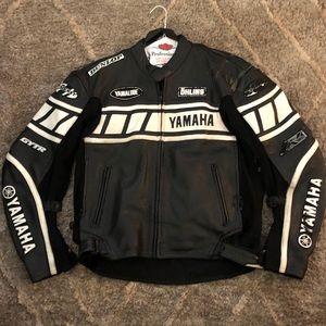 🏍 Joe Rocket Motorcycle Leather Jacket Black